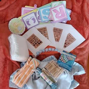 🍼Baby Shower Lot👶 Games🤰Diapers🤱 Decorations👣